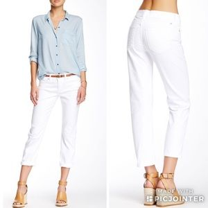 Lucky Brand Mollie Crop White Denim Jeans 4 27